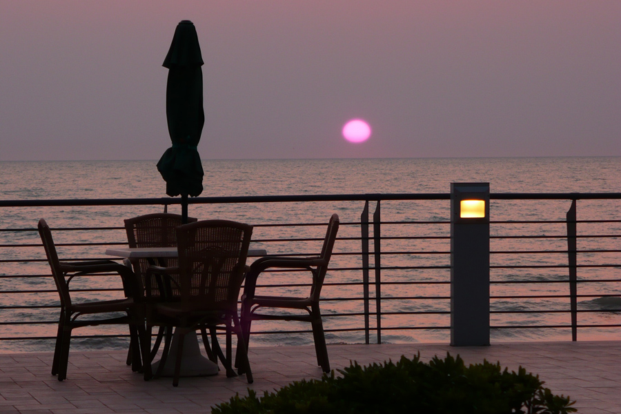 tramonto dalla nostra terrazza sul mare